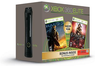 Xbox 360 Elite con Halo 3 y Fable II