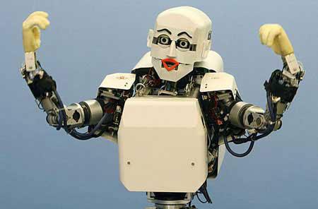 Robot con expresiones en todo el cuerpo