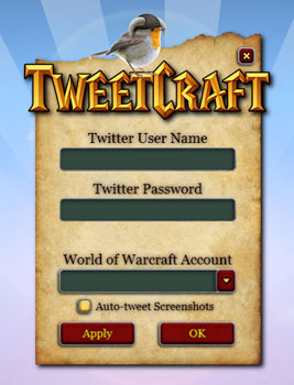 TweetCraft, Tweets para World of Warcraft