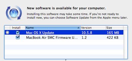 Mac OS X Update 10.5.8