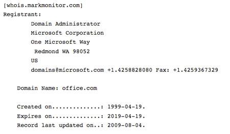 Office.com es de Microsoft