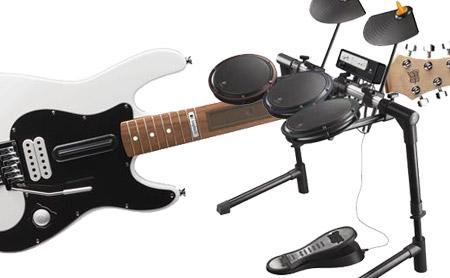 Guitarras y Baterías para Wii