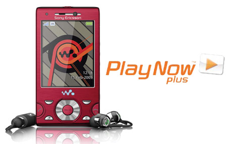 PlayNow Plus en Sony Ericsson W995
