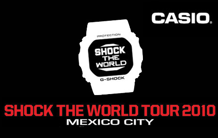 Te invitamos al Shock The World Tour 2010 México