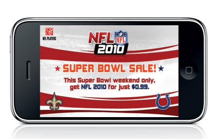 Descuentos en juegos de la NFL en iPhone