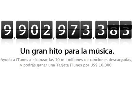 10 mil millones de canciones en iTunes