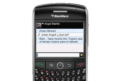 Durante Sudáfrica 2010 disfruta del BlackBerry Messenger