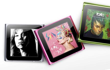 iPod nano con tecnología Multi-Touch