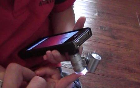 Utiliza tu iPhone 4 como microscopio