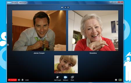 Detalles de Skype 5
