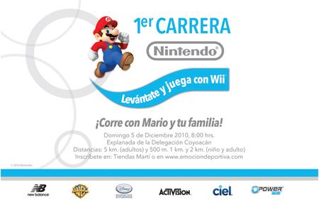 """Primera carrera """"Levántate y juega con Wii"""""""