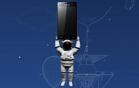 Samsung Galaxy S II va al espacio