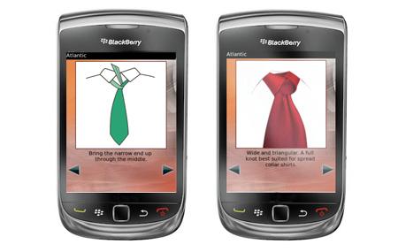 Combina la corbata con tu BlackBerry
