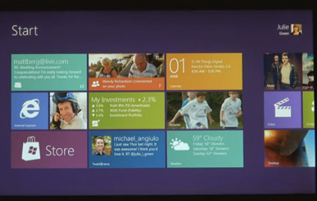 Primer demo de Windows 8 para tabletas