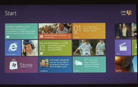 Primer demo de Windows 8 para tabletas