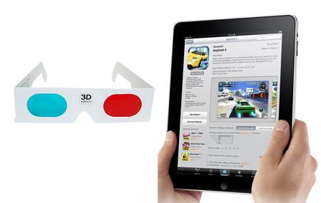 iPad con pantalla 3D