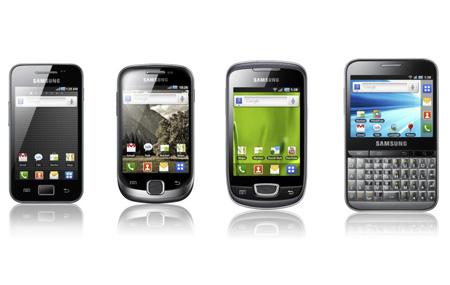 Samsung lanza Gingerbread para la familia Galaxy