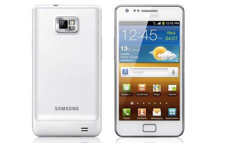 Samsung Galaxy S II ahora en blanco