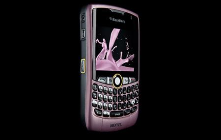 Pink Power con Nextel BlackBerry 8350i