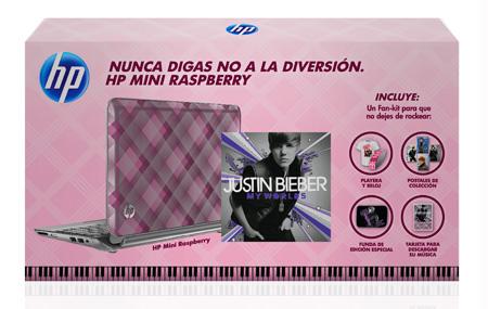 Justin Bieber ahora con HP