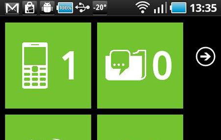 Launcher7:  Windows Phone en Android