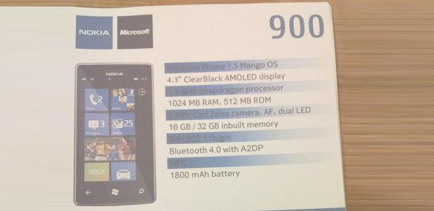Se filtra el Nokia 900