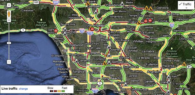 Tráfico del D.F. en Google Maps
