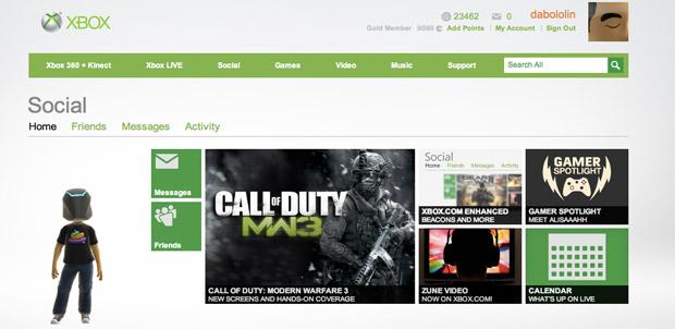 My Xbox con nuevo diseño