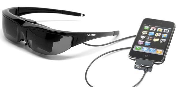 Vuzix Wrap 920 videos 2D o 3D en iPhone