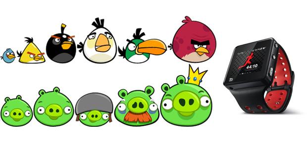 Angry Birds en MOTOACTV