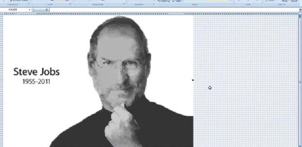 Steve Jobs en Microsoft Excel