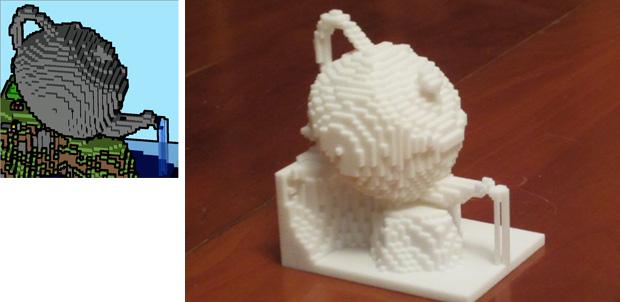 Minecraft en impresión 3D