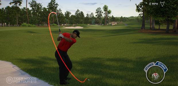 Tiger Woods 13 con funciones para Kinect