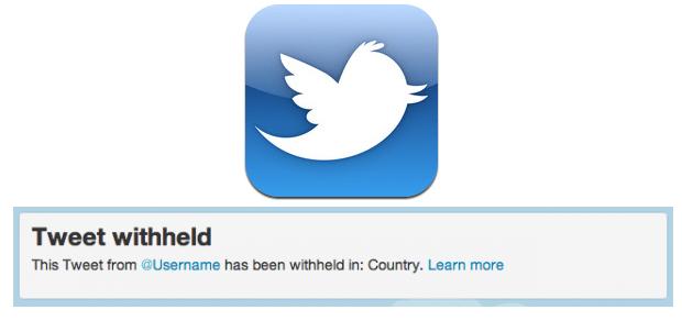 Twitter censura contenido