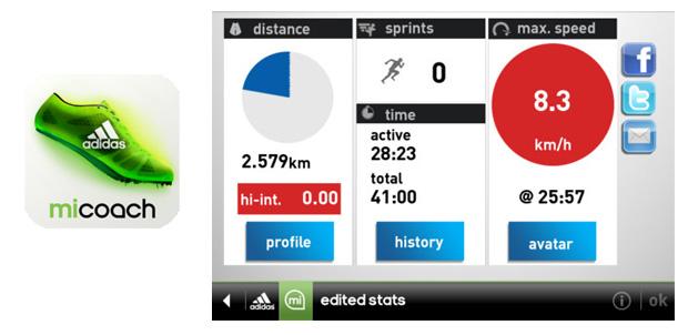 Adidas miCoach para iOS