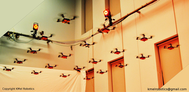 GRASP muestra formación de cuadricópteros