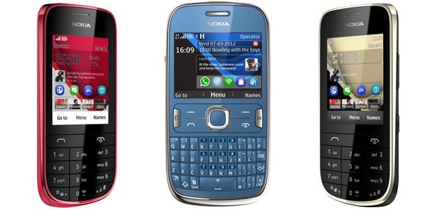 Nokia Asha teléfonos más inteligentes