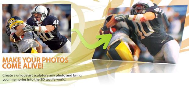 BumpyPhoto fotografías impresas en 3D