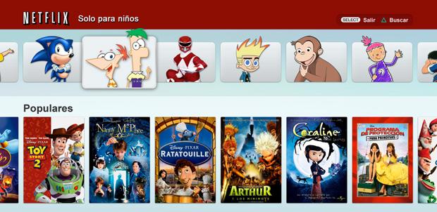 Netflix actualiza su servicio en PlayStation