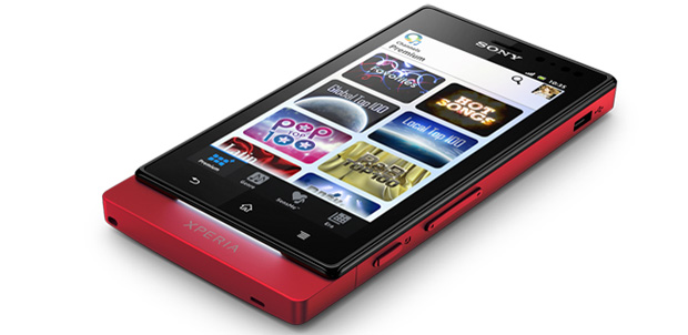 Sony Xperia sola con Floating touch