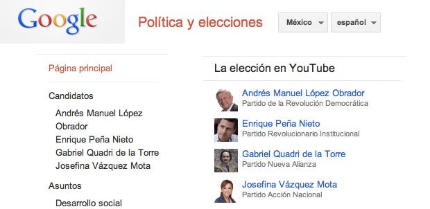 Sitio Google Elecciones para México