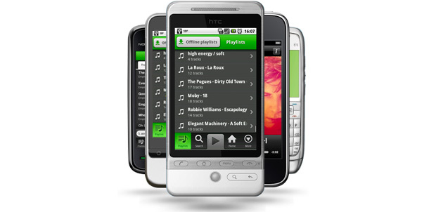 Spotify para Android compatible con ICS