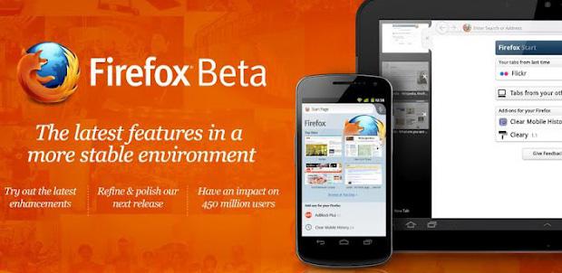 Firefox Beta para Android con Flash