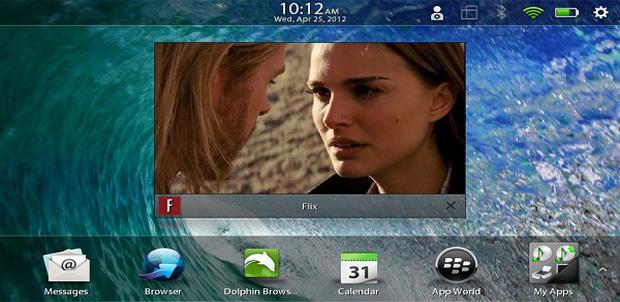 Flix: Netflix en tu BlackBerry PlayBook