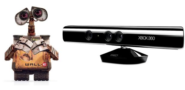 Kinect y Windows Phone interactúan con Wall-E
