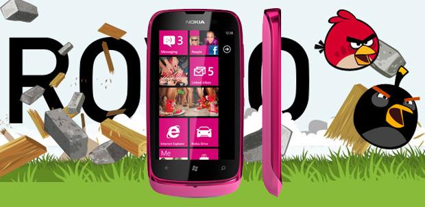 Nokia Lumia 610 sin Angry Birds