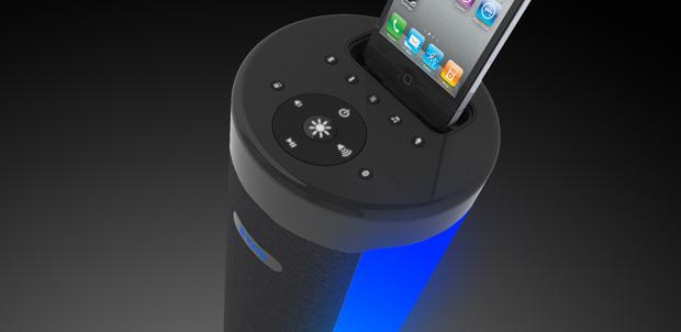 iHome iP76 torre de sonido con LED