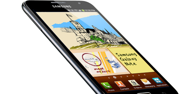 Galaxy Note II con pantalla OLED flexible
