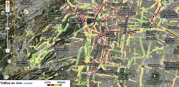 Google Maps muestra el tráfico de México