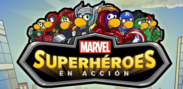 Marvel Superhéroes en Club Penguin